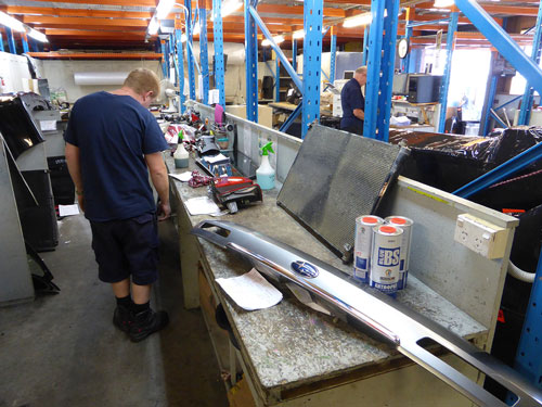 Parts Despatch and Inspection Area